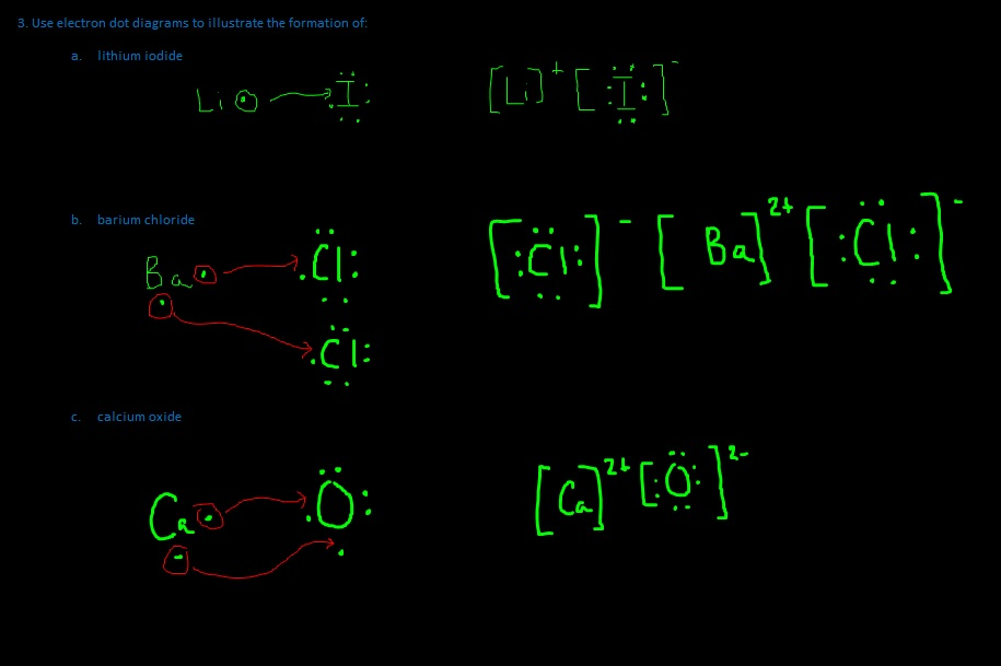 Calcium Oxide Electron Dot Diagram